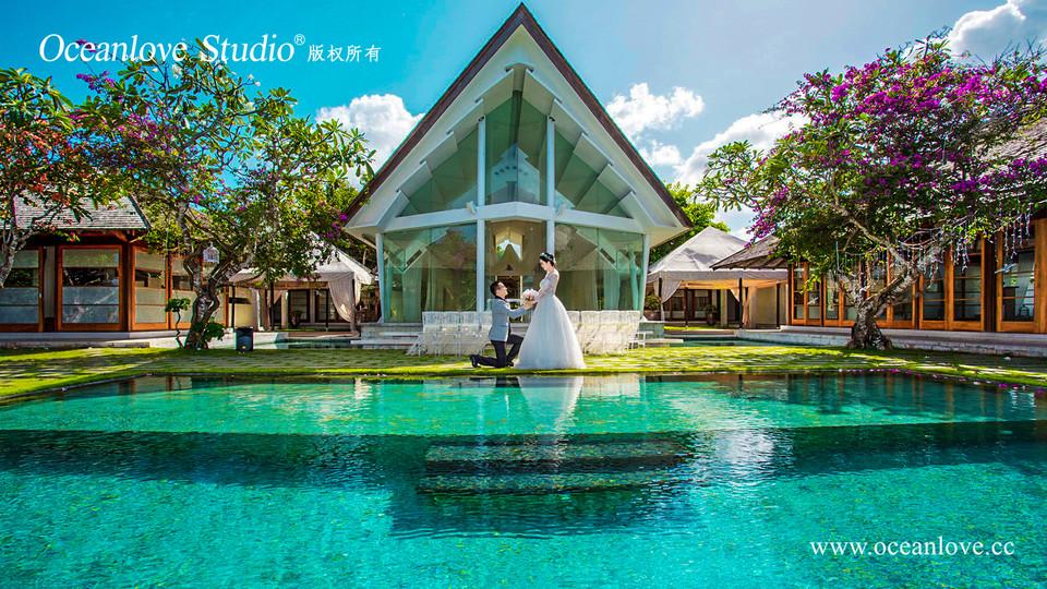 印尼巴厘岛婚纱摄影吴奇隆与刘诗诗婚礼同款